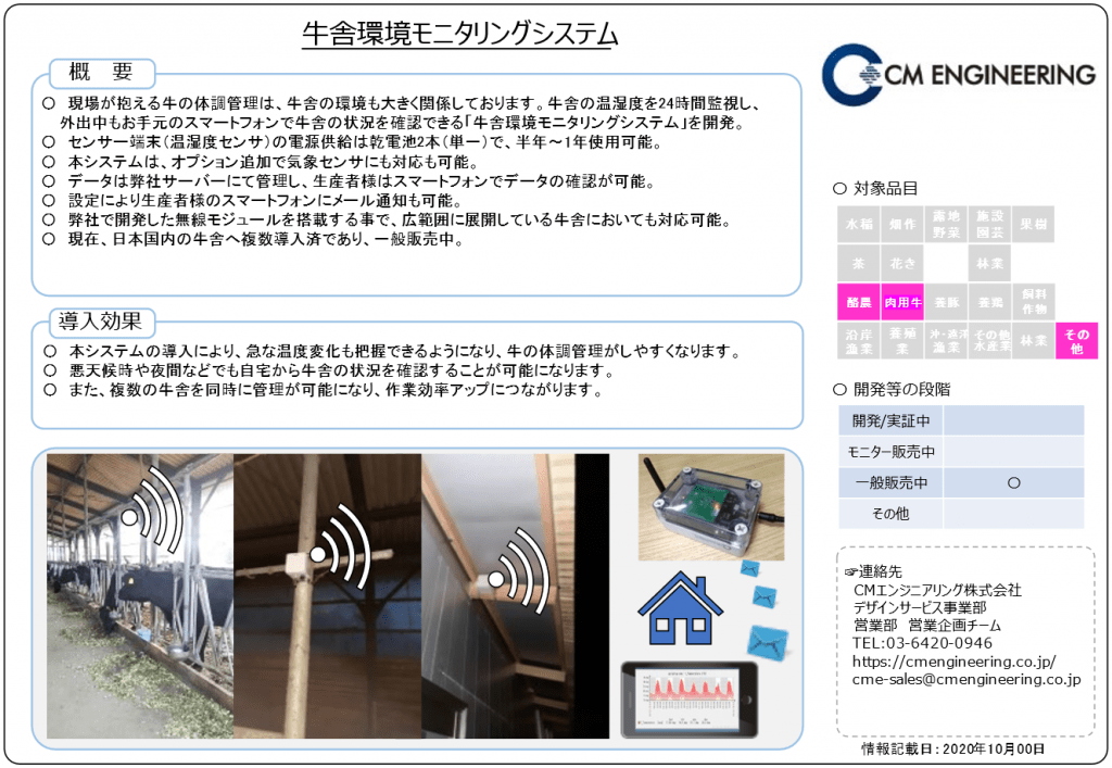 Cattle house environment monitoring system